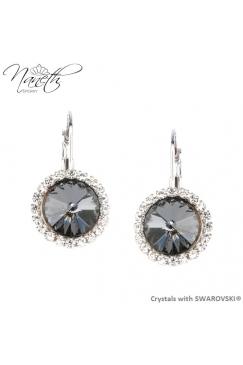 45d545203 Obrázok pre Štrasové náušnice NANETH s kryštálmi Swarovski Crystals Silver  Night
